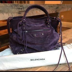 Great condition suede Balenciaga bag